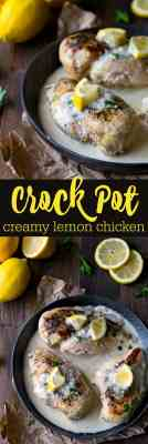 Crock Pot Creamy Lemon Chicken Recipe