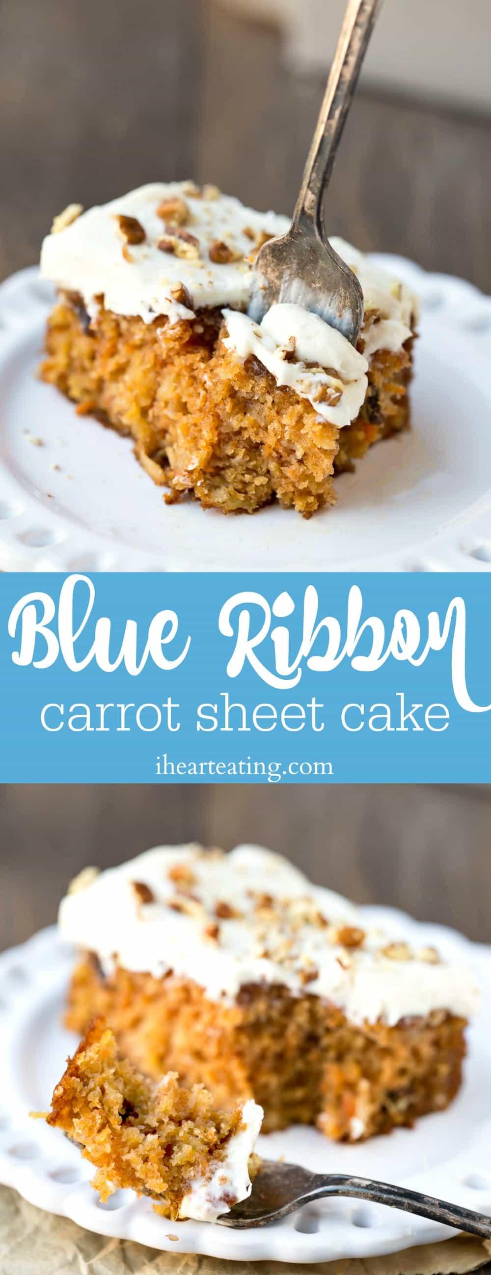 Blue Ribbon Carrot Sheet Cake