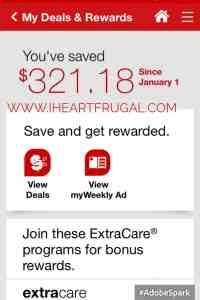 How I saved over $320 at CVS!