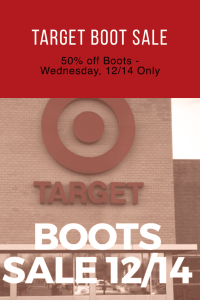 Target Boots Sale and other great dealsTarget Boots Sale and other great deals
