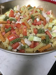 Add your Italian Salad Dressing and mix your Salad