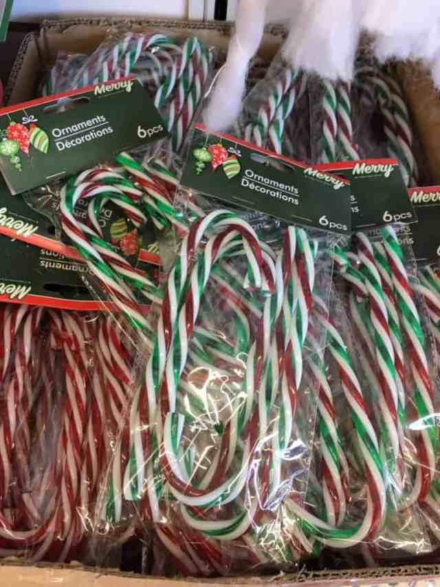 Dollar Store Christmas Decorating Ideas- Plastic Candy Canes