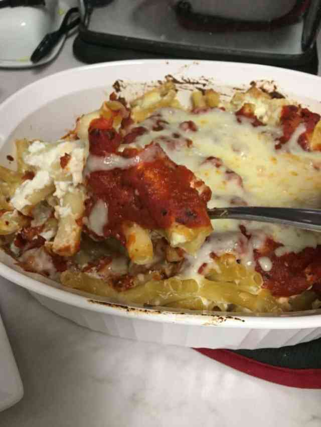 Are you ready to try this amazing baked ziti recipe? This easy recipe is a favorite in my house. It fills up my family and there is always leftovers. Enjoy this frugal recipe. #bakedziti #easyrecipes #frugalrecipes
