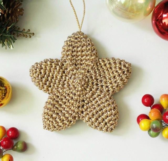 Crochet Christmas Star Ornament I Heart Gantsilyo