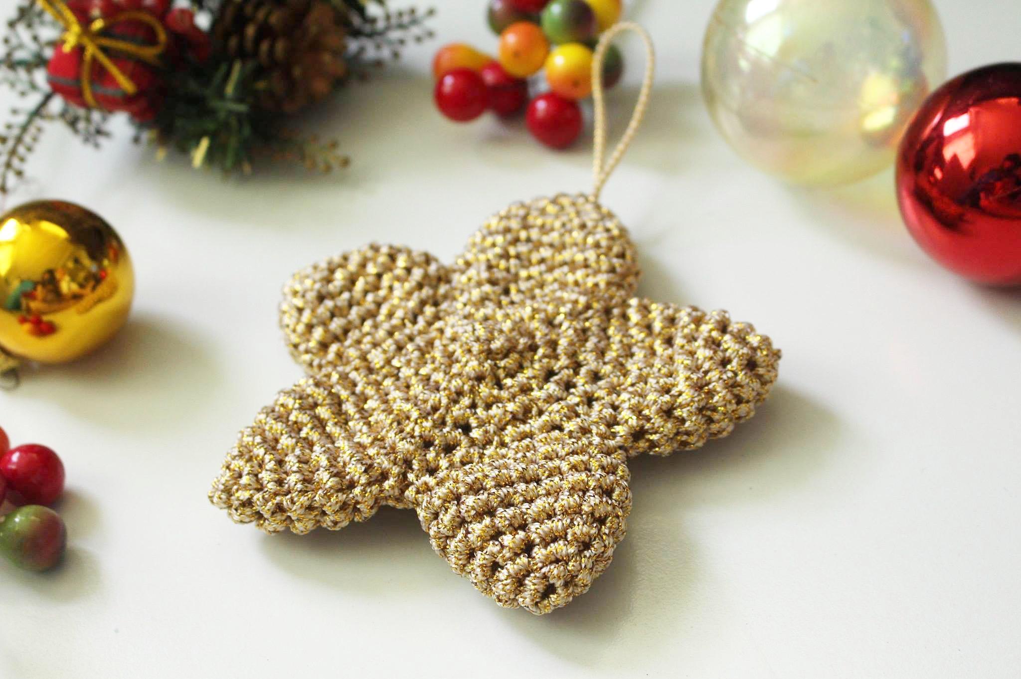 Crochet Christmas Star Ornament | I Heart Gantsilyo