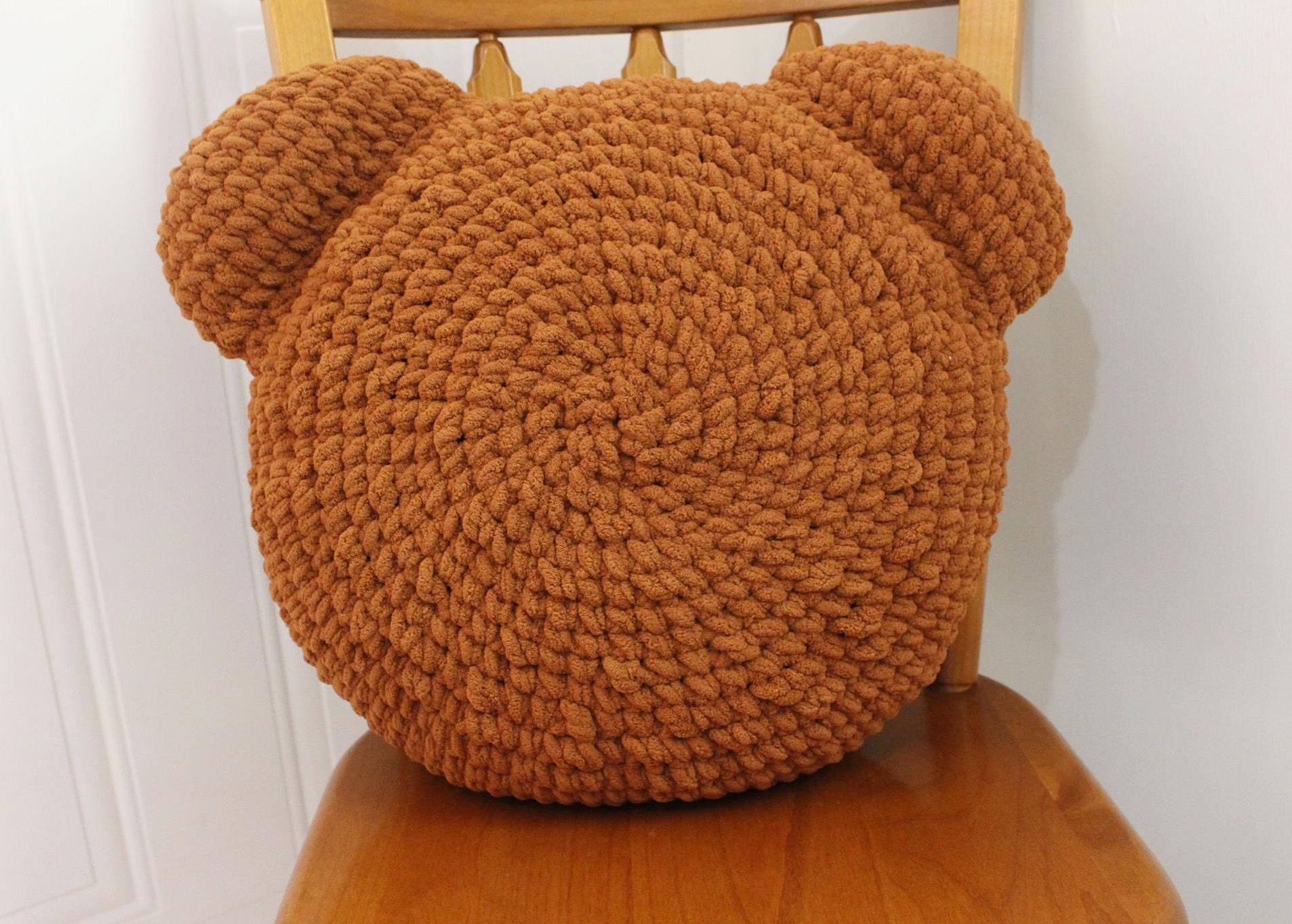 Crochet Teddy Bear Pillow | I Heart Gantsilyo