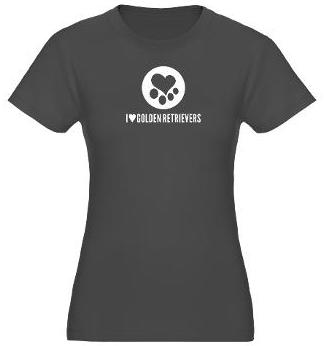 Golden Retriever Womens Fitted Tshirt