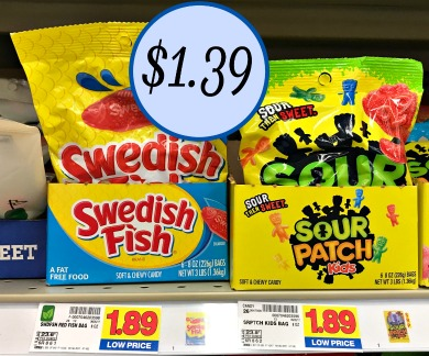 Swedish fish or sour patch kids as low as at kroger for Sour swedish fish