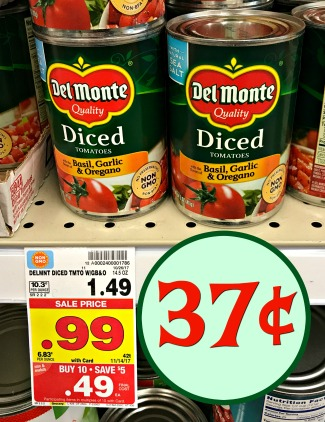 Del Monte Tomatoes As Low As 37 In The Kroger Mega Sale