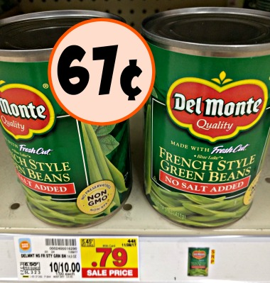 Del Monte Vegetables As Low As 67 At Kroger