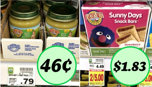 new earth s best coupons baby food jars just 46 snacks just 1 83