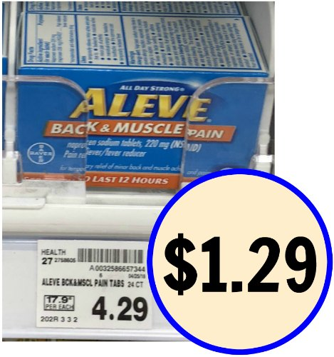 Aleve coupons 2018