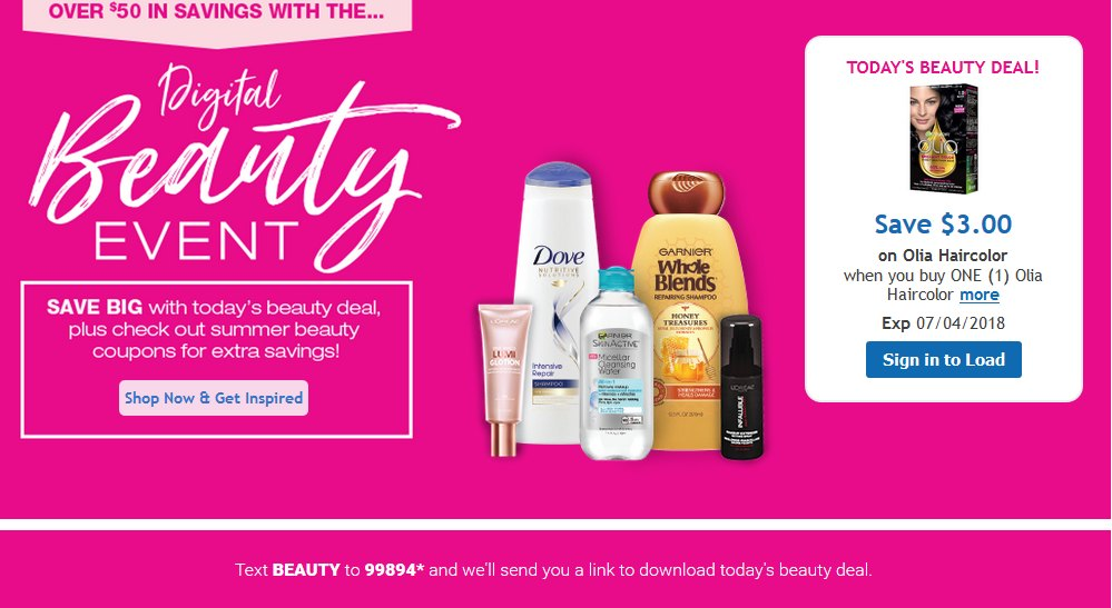 Kroger Digital Beauty Event Save On Olia Haircolor