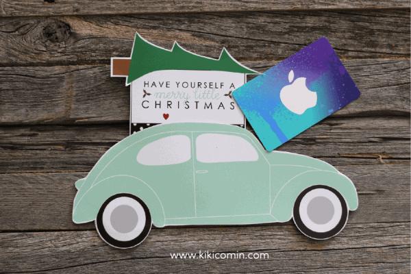 VW Bug Christmas Gift Card Holder I Heart Nap Time