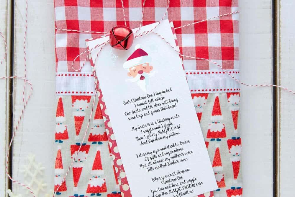 Christmas Pillowcase Poem FREE PRINTABLE I Heart Nap Time