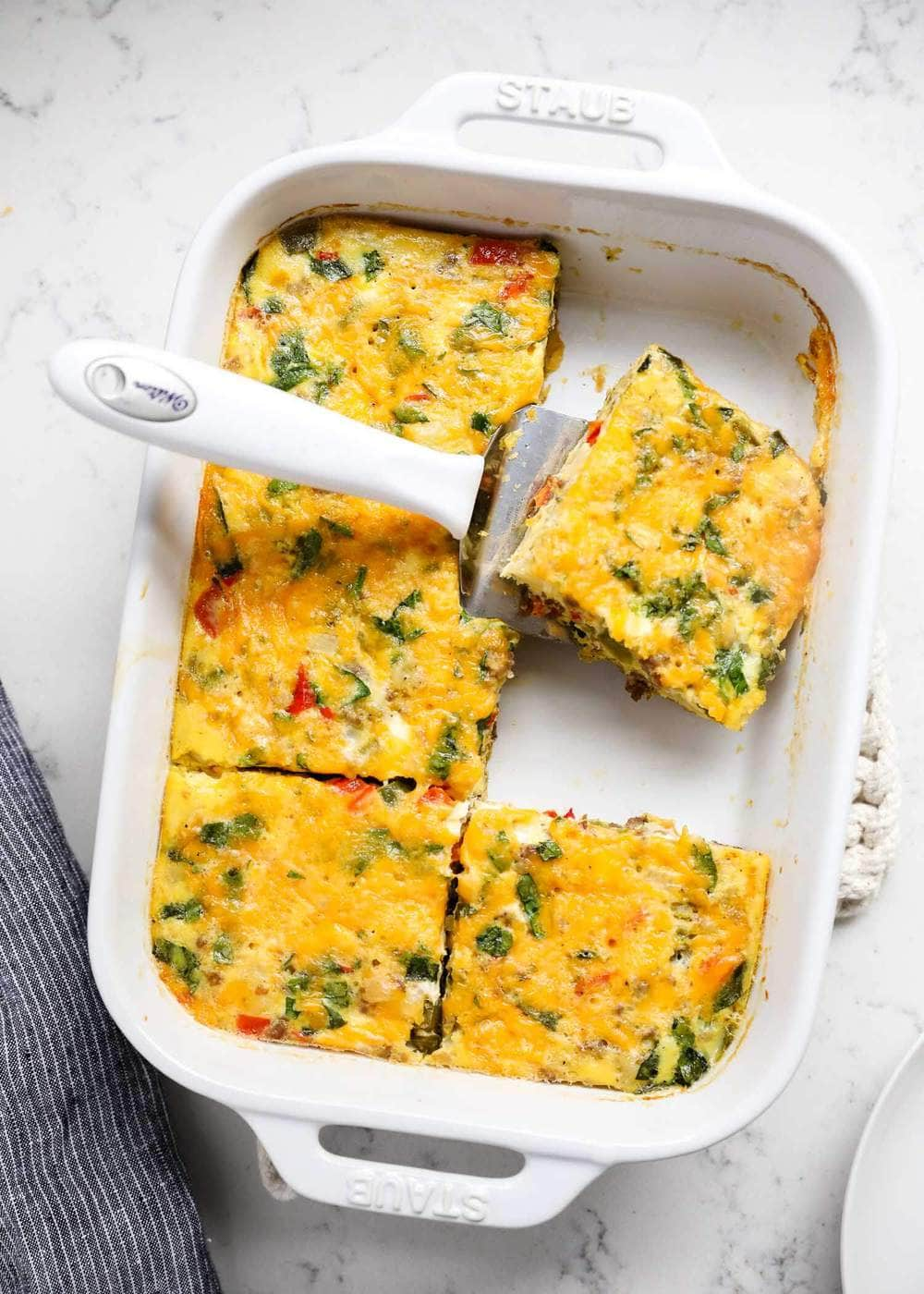 Make Ahead Sausage And Egg Breakfast Casserole I Heart