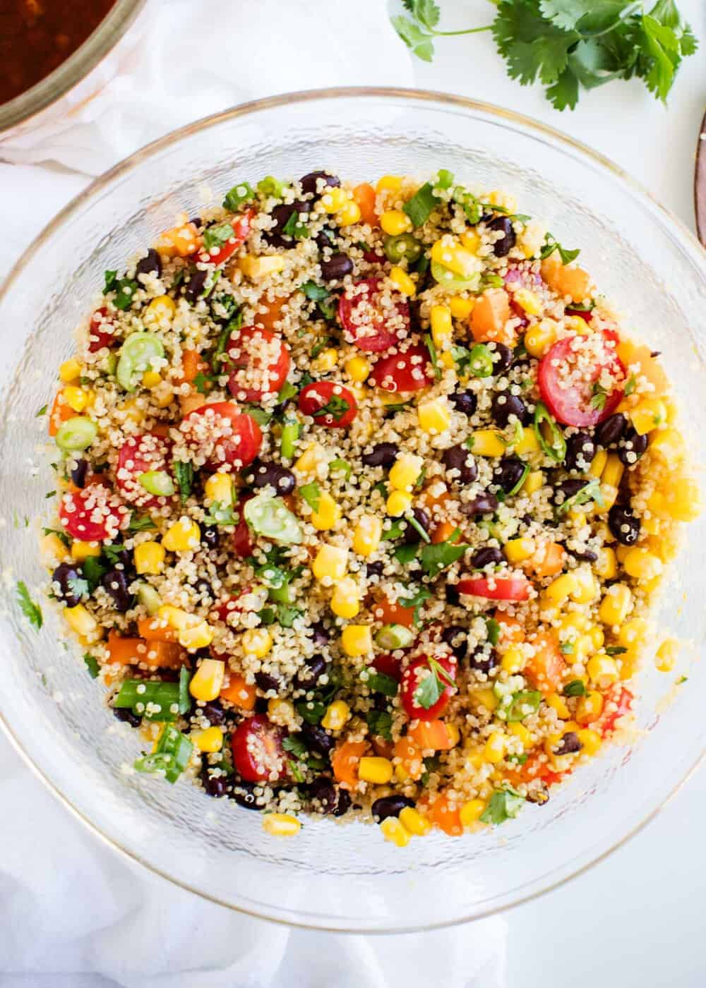 Image result for This quinoa bowl is packed with protein.