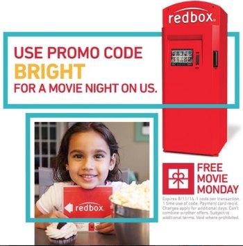 redbox Free Redbox Rental 8/11 Only + Free Game Rental Too!