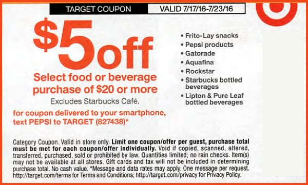 Target coupons clothes in store