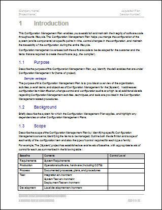 configuration-management-plan-template
