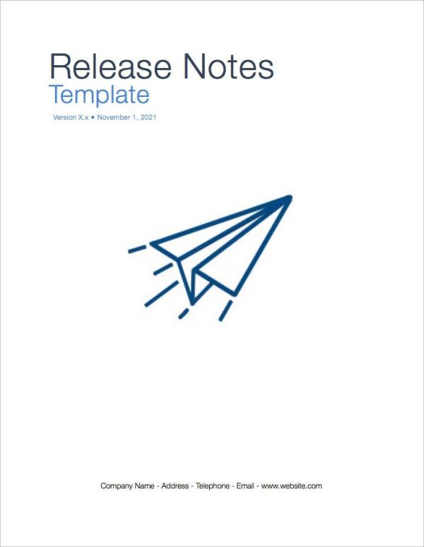 release notes template in ms word