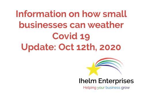 Ihelm Enterprises Covid 19 Update Oct 12th
