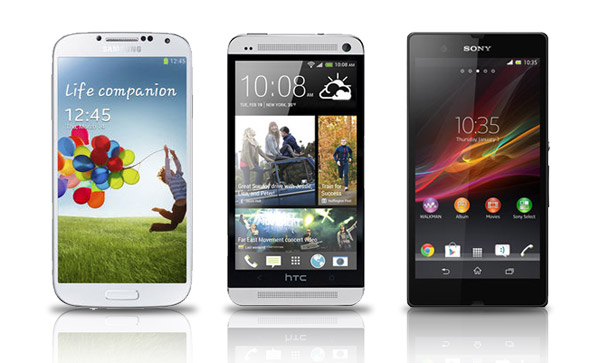 Galaxy-S4-vs-HTC-One-vs-Xperia-Z-design