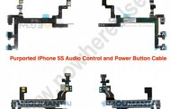 Power button Photos of iPhone 5S and Audio Control Flex Cable leaked