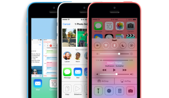 blue white pink iPhone 5c side by side