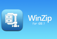 WinZip 3.0 with a new iOS 7 interface and Dropbox support released