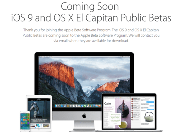 iOS 9 public beta program