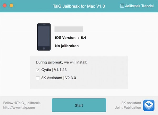 jailbreak iOS 8.4 taig mac