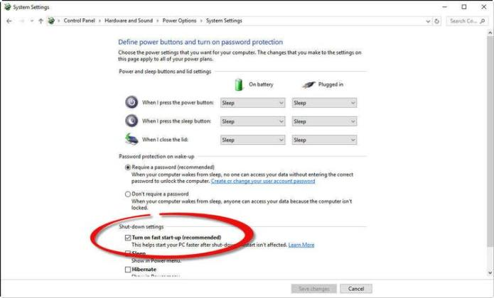 Activate-quick start windows 10_power_options
