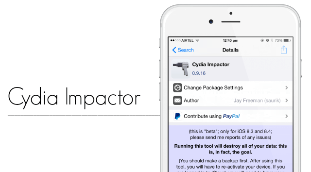 Cydia Impactor Becomes Cydia Eraser With iOS 9 Support
