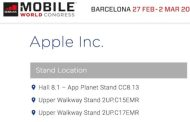 Apple to be an exhibitor at Mobile World Congress 2017
