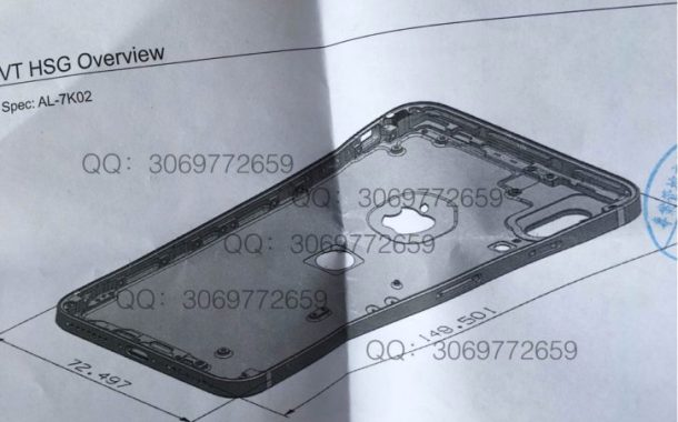 'iPhone 8' Schematic Reveals Touch ID on Back of Aluminum Casing Avd Vertical Dual Camera