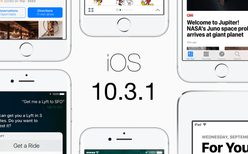 Apple No Longer Signing iOS 10.3.1 Firmware