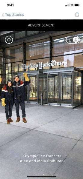 New York Times To Debut With Apple's ARKit In Its News App