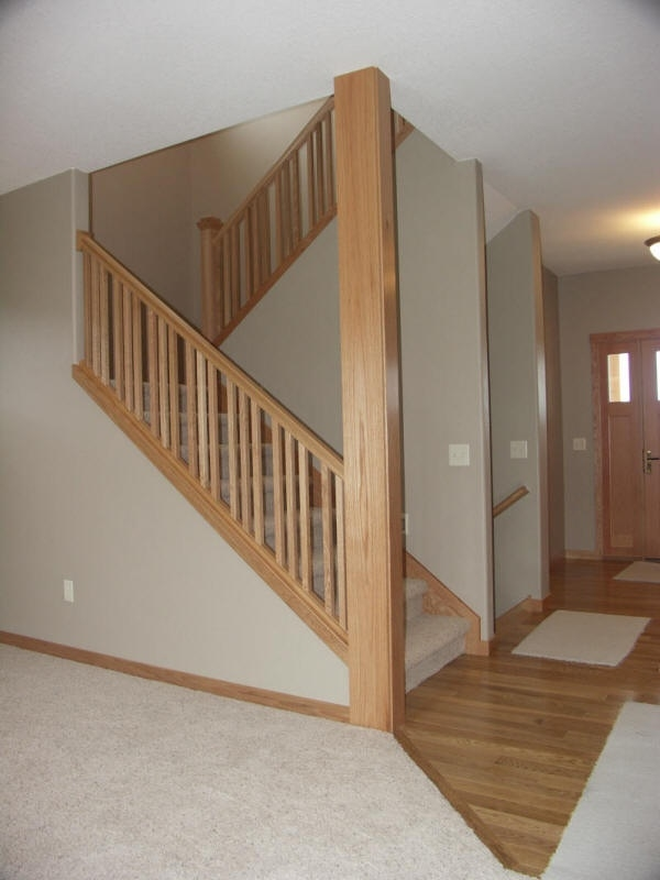 Interior Basement Stairs Railing Charming On Interior Intended For | Best Wood For Basement Stairs | Stair Risers | Staircase Remodel | Tile | Modern Stair Railing | Staircase Designs