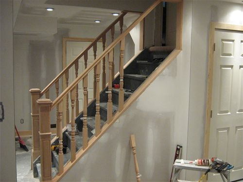 Interior Basement Stairs Railing Modern On Interior Within 9 | Basement Stairs With Landing | English Basement | Grand Entrance | Spiral | Wood | Hardwood