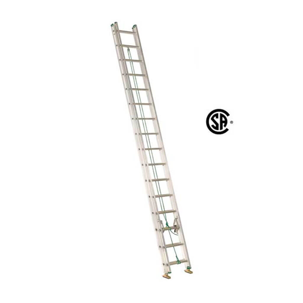 Lite Lp 32 Ft Aluminum Extension Ladder With 225 Lb