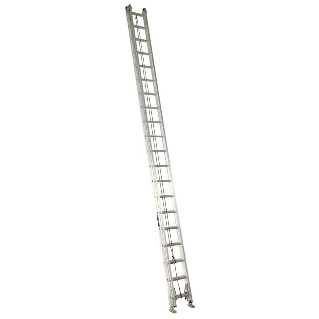 Lite Lp 40 Ft Aluminum Extension Ladder With 225 Lb