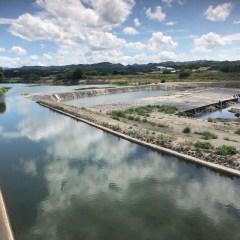 立花宗茂と花宗堰・花宗川の風景