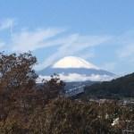 深秋 快晴 富士の初冠雪