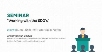 """Seminário """"Working with the SDG's"""": Inscrições abertas!"""