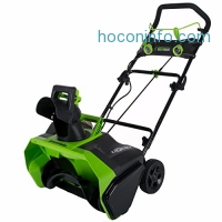 ihocon: Greenworks 20-Inch 40V Cordless Brushless Snow Thrower, Battery Not Included 2601102 無線除雪機