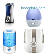 ihocon: Homedics Personal Cool Mist Ultrasonic Humidifier - Portable and Travel Friendly, Plugs into USB or wall outlet, 200ml Reservoir, Runs up to 4 hours,  HUM-CM10