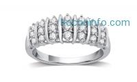 ihocon: Sterling Silver 1/2 CTTW Genuine Diamond ring純銀鑽戒