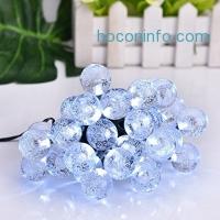 ihocon: EECOO Globe Solar String Lights,(14.76ft,Cold White)太陽能聖誕燈/裝飾燈