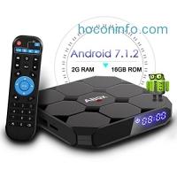 ihocon: 2018 Model GooBang Doo ABOX A1 max Android 7.1 TV BOX, 2GB RAM 16GB ROM Amlogic Quad Core A53 Processor 64 Bits電視盒